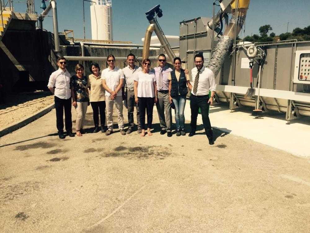 La delegazione santacrocese in visita al depuratore di Alcanena