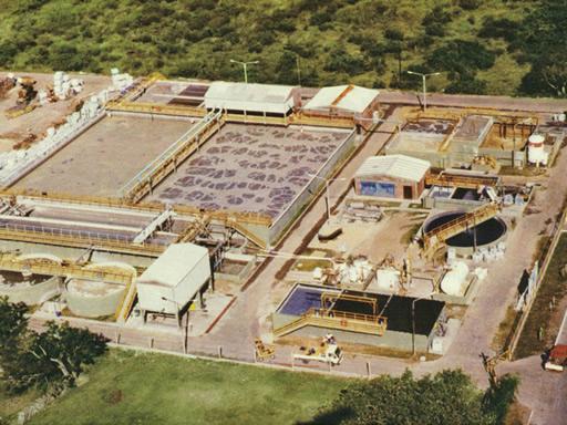 Impianto di depurazione acque residuali industria conciaria